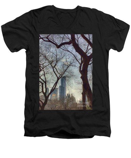 The City Through The Trees Men's V-Neck T-Shirt