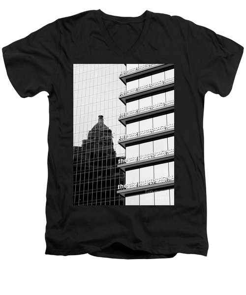 Men's V-Neck T-Shirt featuring the photograph The Clouds by Chris Dutton