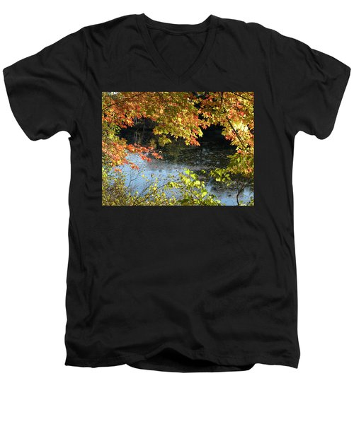 Men's V-Neck T-Shirt featuring the photograph The Colors Of Fall by Tara Lynn