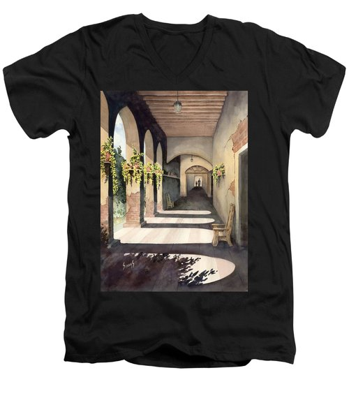 The Corridor 2 Men's V-Neck T-Shirt by Sam Sidders