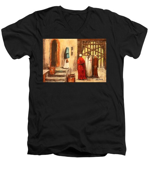 The Courtyard Conversation Men's V-Neck T-Shirt