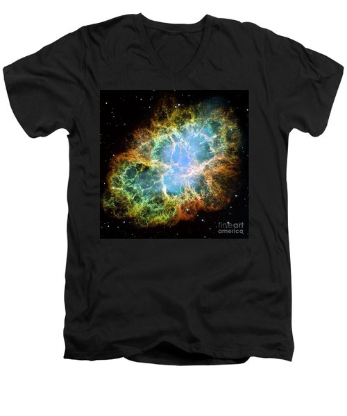The Crab Nebula Men's V-Neck T-Shirt