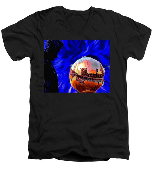 Humanity Calmly Watches The Extinction Men's V-Neck T-Shirt