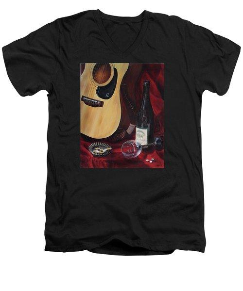 The Dark Times Men's V-Neck T-Shirt by Kim Lockman