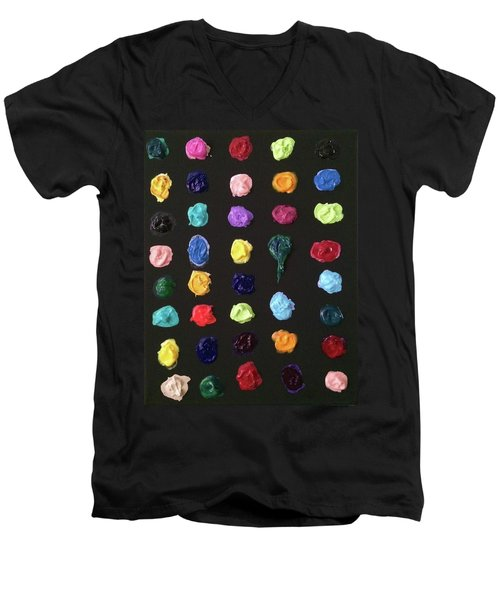 The Destruction Of Earth Men's V-Neck T-Shirt by Brenda Pressnall