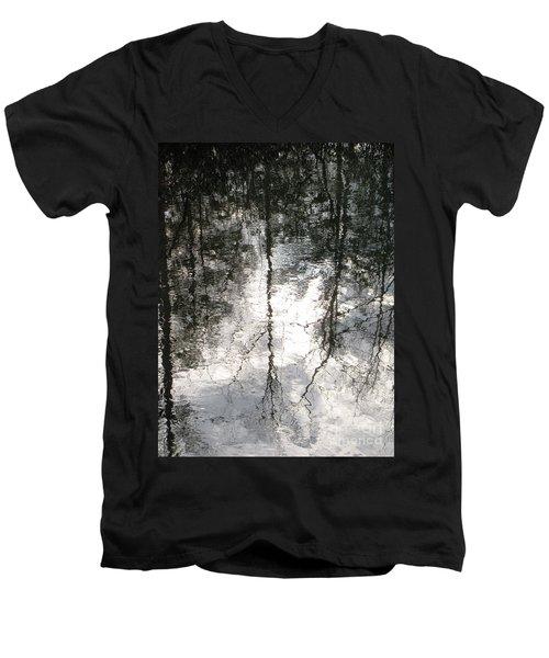 The Devic Pool 2 Men's V-Neck T-Shirt by Melissa Stoudt