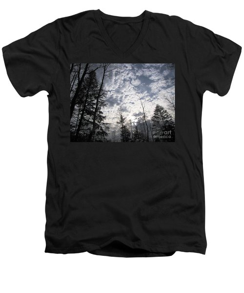 The Devic Pool 3 Men's V-Neck T-Shirt by Melissa Stoudt