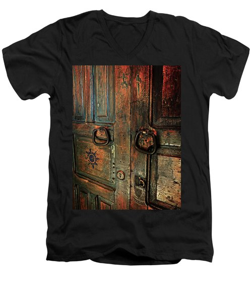 The Door Of Many Colors Men's V-Neck T-Shirt