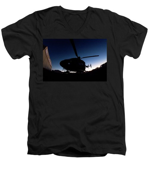 Men's V-Neck T-Shirt featuring the photograph The Dot by Paul Job
