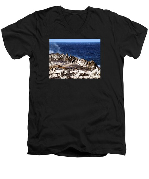 The Dragons Teeth II Men's V-Neck T-Shirt by Patricia Griffin Brett