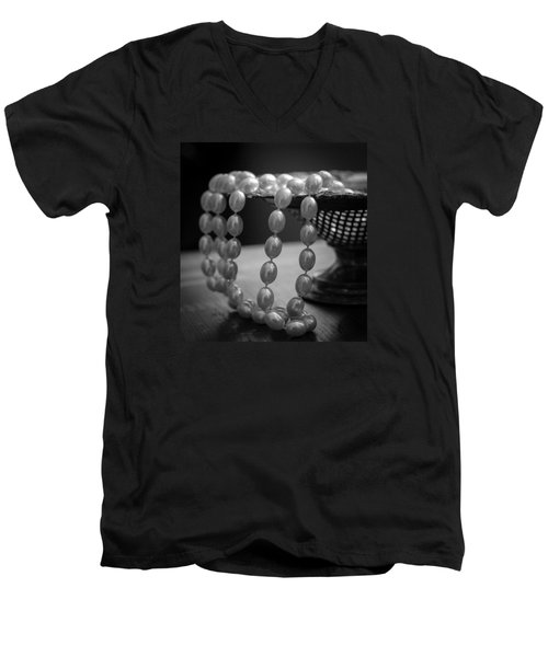 The Drama Of Pearls Men's V-Neck T-Shirt