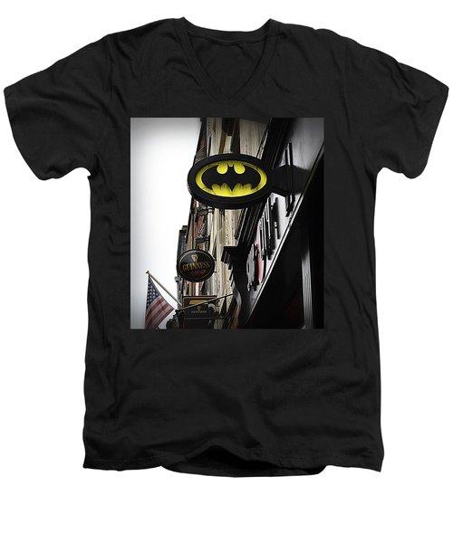 The Drink Of Super Heroes Men's V-Neck T-Shirt by Nadalyn Larsen