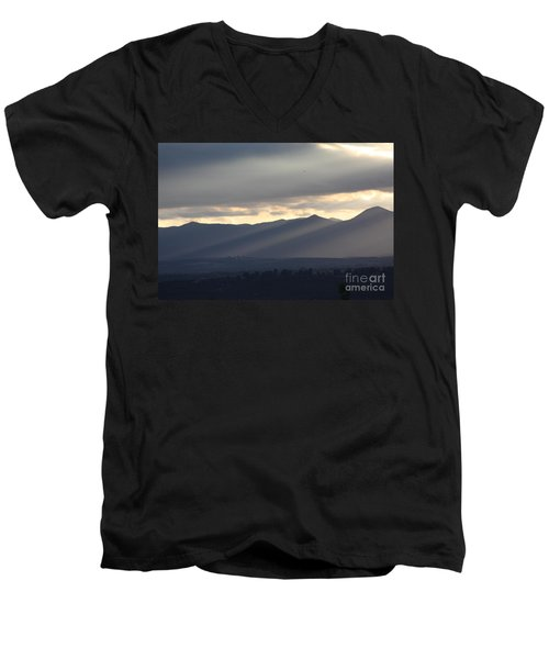 Men's V-Neck T-Shirt featuring the photograph The Dying Of The Day by Brian Boyle