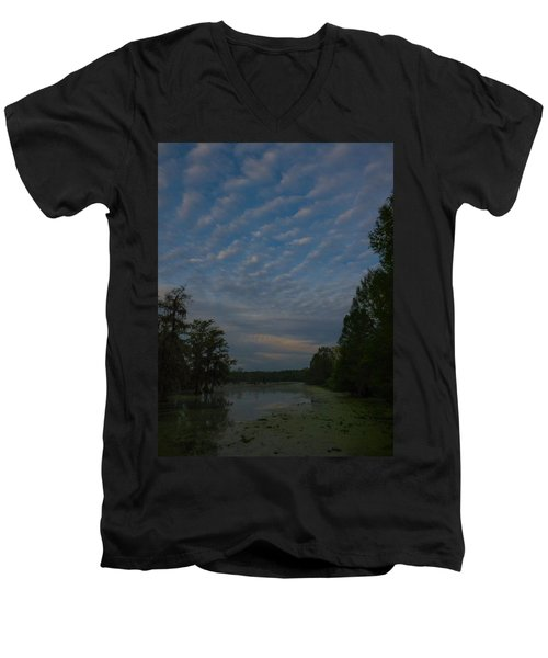 The Early Birds Men's V-Neck T-Shirt by Kimo Fernandez