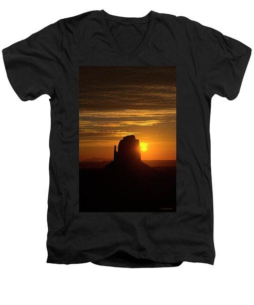 The Earth Awakes Men's V-Neck T-Shirt
