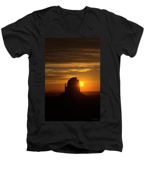 The Earth Awakes Men's V-Neck T-Shirt