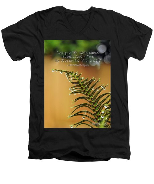 Men's V-Neck T-Shirt featuring the photograph The Edges Of Time by Peggy Hughes