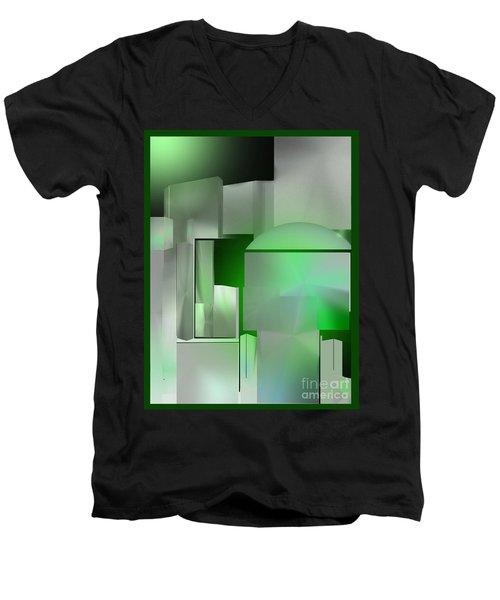 The Emerald City Men's V-Neck T-Shirt by John Krakora