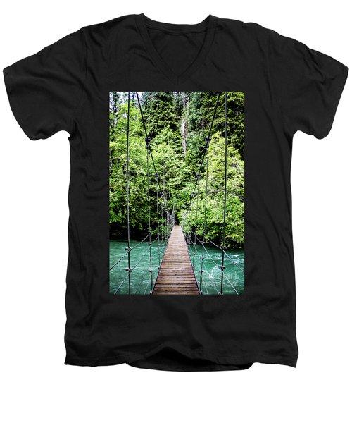 The Emerald Crossing Men's V-Neck T-Shirt