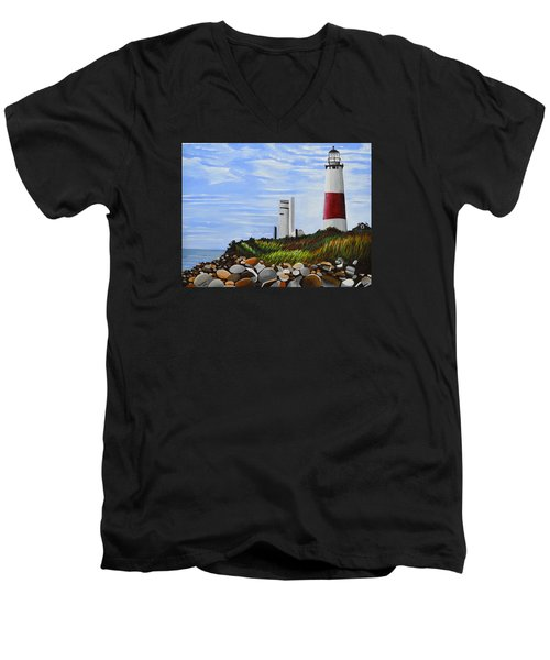 The End Men's V-Neck T-Shirt by Donna Blossom