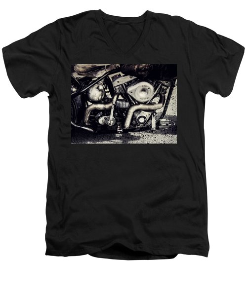 Men's V-Neck T-Shirt featuring the photograph The Engine by Ari Salmela