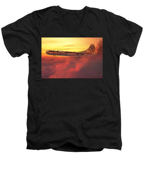 Enola Gay B-29 Superfortress Men's V-Neck T-Shirt by David Collins