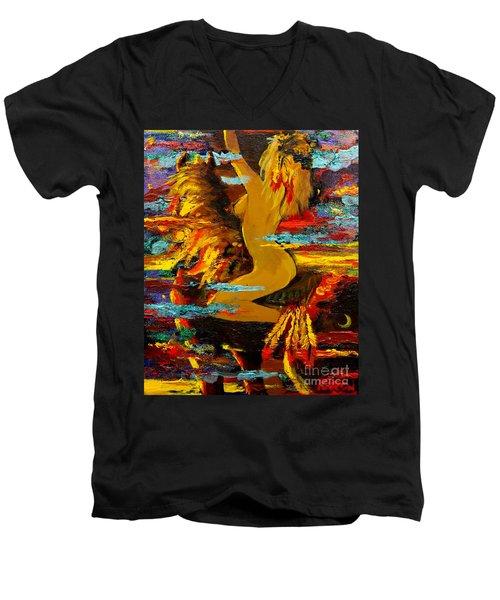 The Eternal Sea - Self Portrait Men's V-Neck T-Shirt