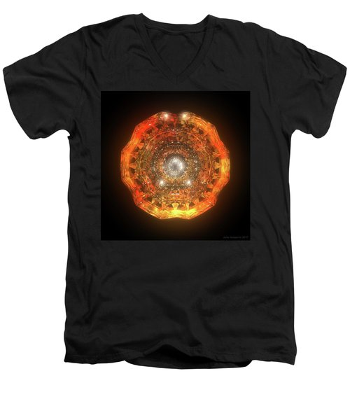 The Eye Of Cyma - Fire And Ice - Frame 160 Men's V-Neck T-Shirt