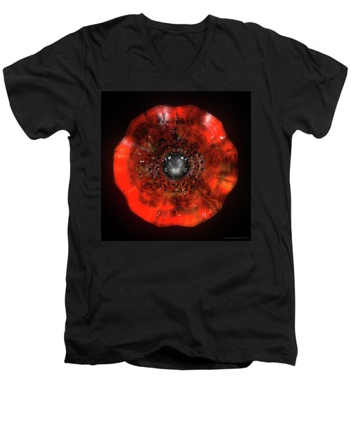 The Eye Of Cyma - Fire And Ice - Frame 40 Men's V-Neck T-Shirt