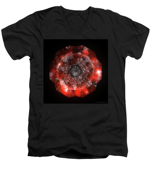 The Eye Of Cyma - Fire And Ice - Frame 49 Men's V-Neck T-Shirt