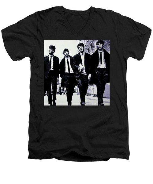 The Fab Four Men's V-Neck T-Shirt
