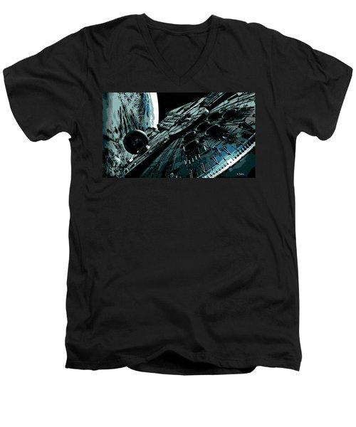 the Falcon Men's V-Neck T-Shirt