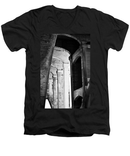 the fall of the house of Escher Men's V-Neck T-Shirt
