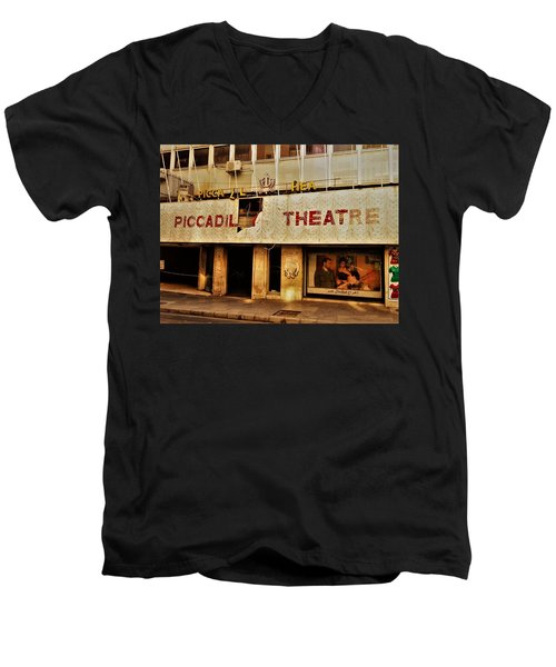 The Famous Beirut Picadilly Theater  Men's V-Neck T-Shirt by Funkpix Photo Hunter