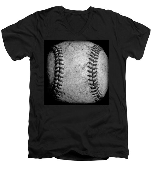 Men's V-Neck T-Shirt featuring the photograph The Fastball by David Patterson