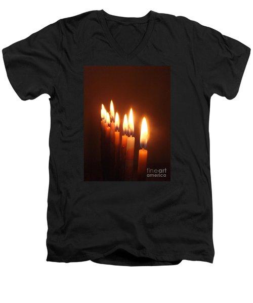 Men's V-Neck T-Shirt featuring the photograph The Festival Of Lights by Annemeet Hasidi- van der Leij