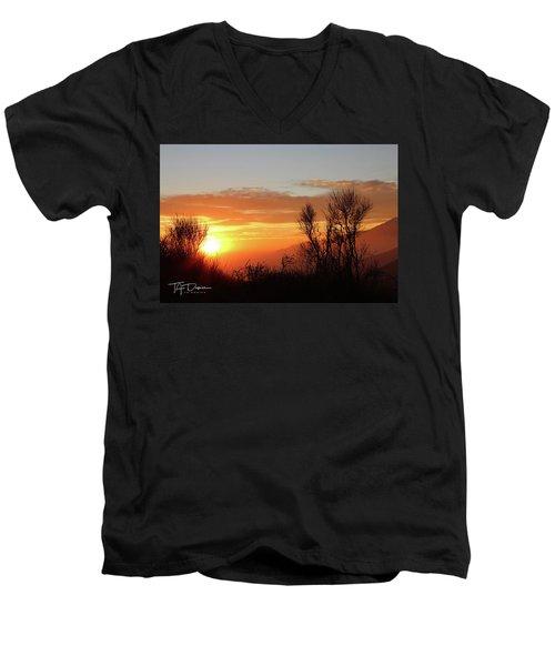 The Fire Of Sunset Men's V-Neck T-Shirt