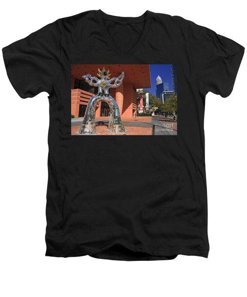 The Firebird At The Bechtler Museum In Charlotte Men's V-Neck T-Shirt
