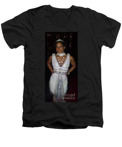 The Fit Goddess Men's V-Neck T-Shirt by Talisa Hartley