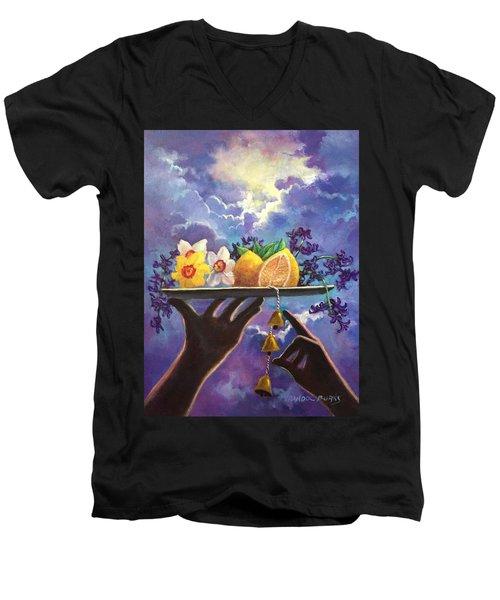 The Five Senses Men's V-Neck T-Shirt by Randy Burns