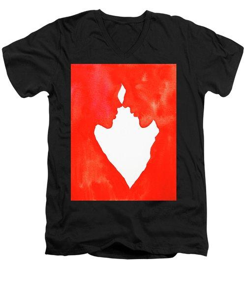 The Flame Of Love Men's V-Neck T-Shirt