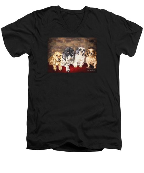 The Four Amigos Men's V-Neck T-Shirt