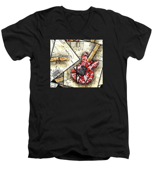The Frankenstrat Men's V-Neck T-Shirt by Gary Bodnar