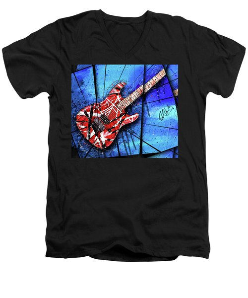 The Frankenstrat Vii Cropped Men's V-Neck T-Shirt by Gary Bodnar