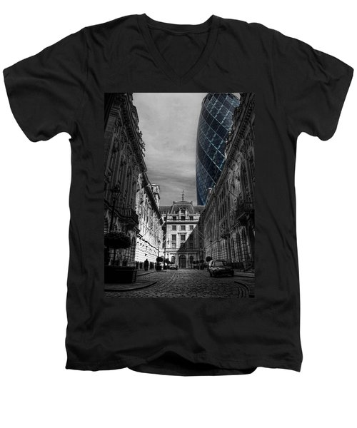 The Future Behind The Past Men's V-Neck T-Shirt