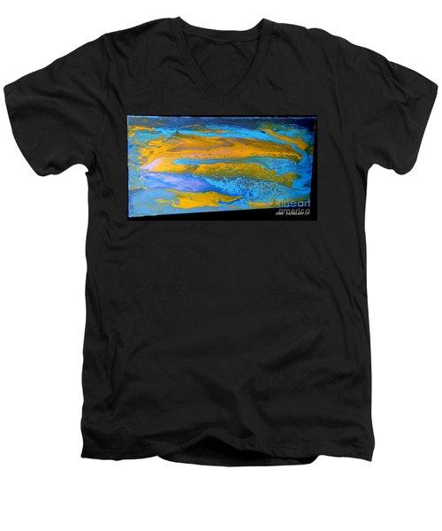 the GATOR in abstracr Men's V-Neck T-Shirt