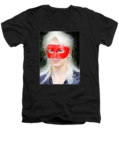 The Gaze Of A Heroine Men's V-Neck T-Shirt