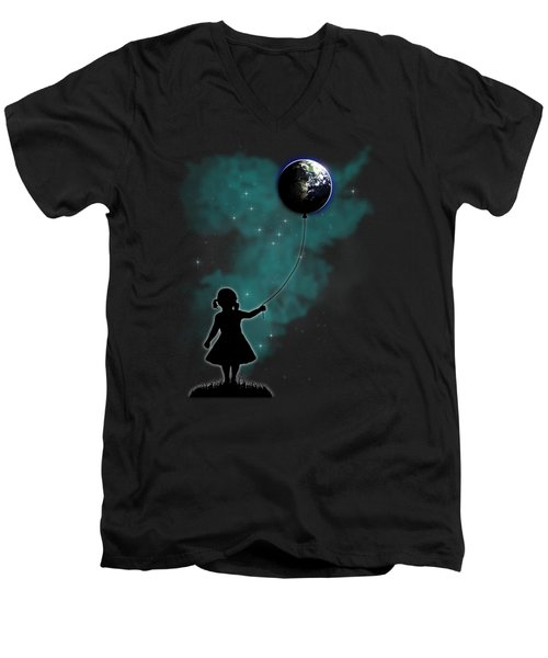 The Girl That Holds The World Men's V-Neck T-Shirt by Nicklas Gustafsson