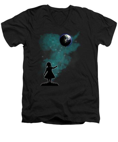 The Girl That Holds The World Men's V-Neck T-Shirt