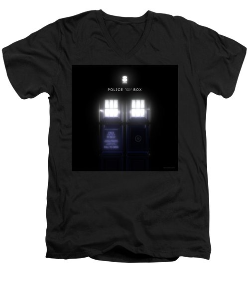 The Glass Police Box Men's V-Neck T-Shirt